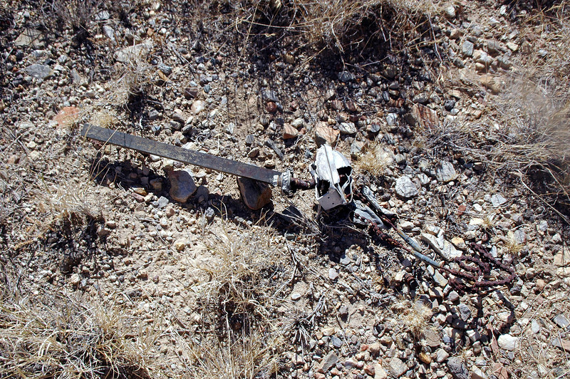 This was the only piece of wreckage near the tail, looks like part of some control linkage.
