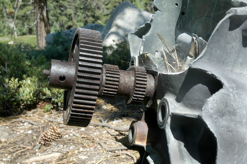 Think that these gears are to drive some of the engine accessories.