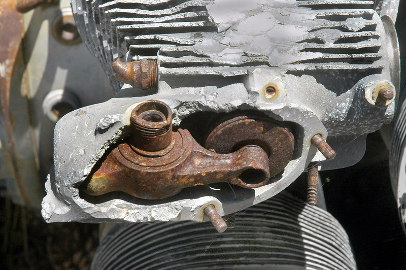 One of the rocker arms.