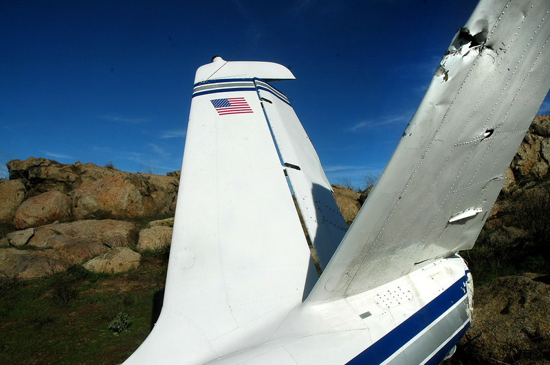 The fin and rudder showed no sign of damage.