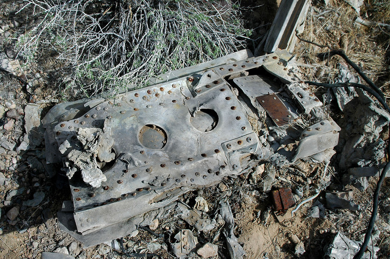 One of the two speed brakes that would have been located on the bottom side of the fuselage.