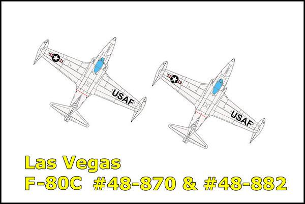 Las Vegas F-80C #48-870 and 48-882 4/27/12