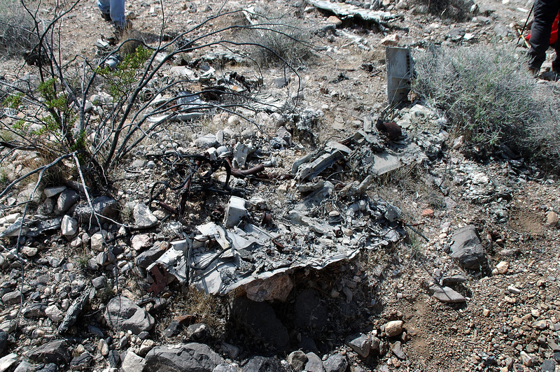 There was a large amount of wreckage remaining, most of it was badly damaged by the post impact fire.