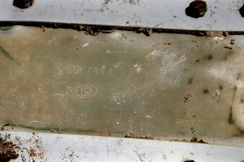 Inspection stamp on the same piece. I think the LAS stands for Lockheed Aircraft Service Company.
