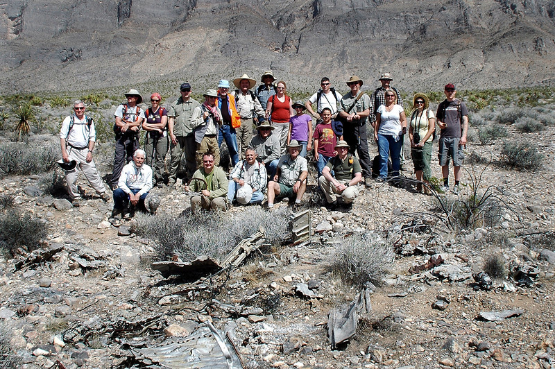 Group shot at the #48-870 crash site just before moving on to search for the site of #48-882.