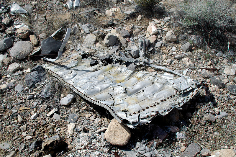 This four foot long piece was one of the largest at the site. Not sure which section of the F-80 this piece is from.