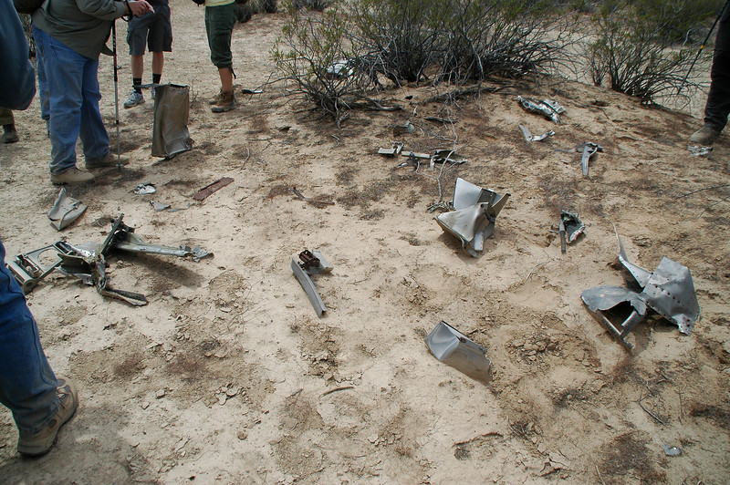 It didn't take long for us to come upon this group of wreckage. Looks like these pieces were gathered up and placed here.