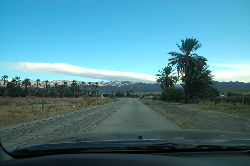 Driving towards the Little San Bernardino Mountains, north of Indio, California. I was fairly sure that I figured out the general location of the crash site. Hoping that once I got into the area, I would be able to spot the wreckage.
