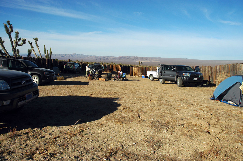 Next morning, our camp site inside a long abandoned corral. The group has plans to hike up a couple of peaks today while I go looking for the crash sites of the P-38s.