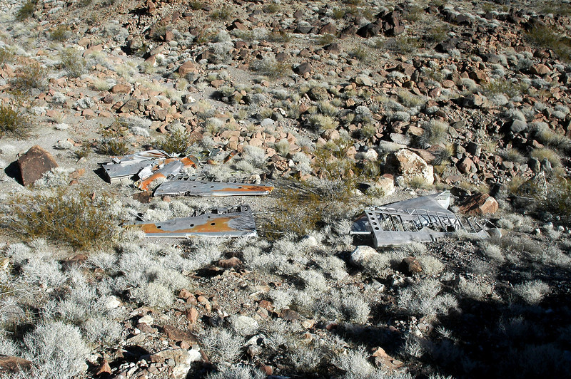 An overall view of the disassembled tail section as I start the search for the main site.