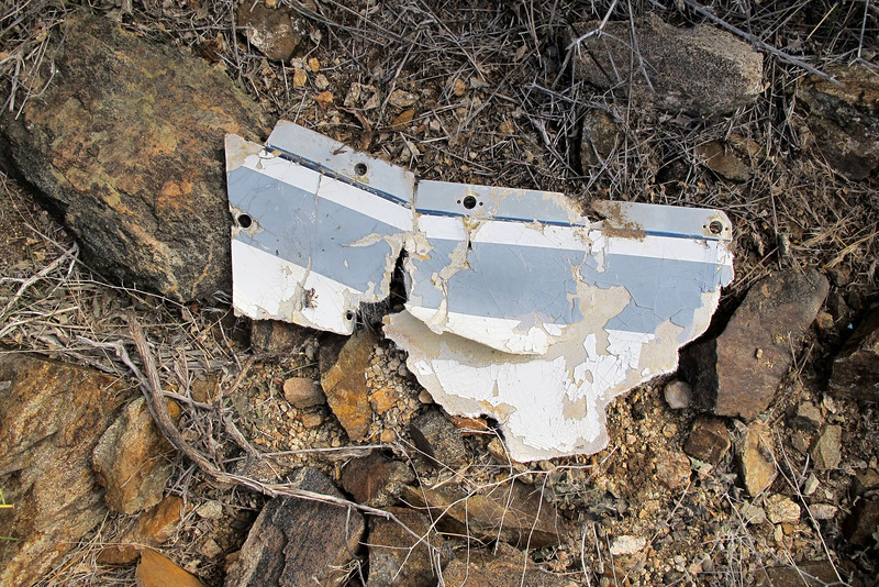 This is the first piece of wreckage I came upon while hiking up the valley.