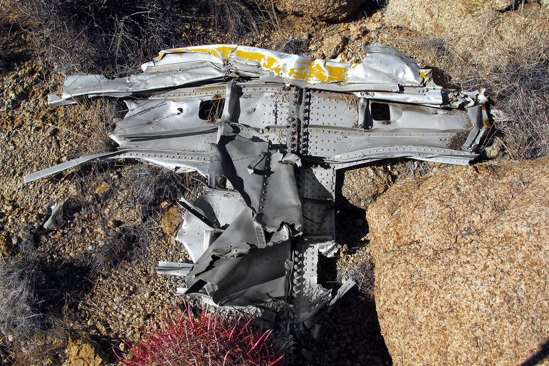 A fairly large piece of wreckage.