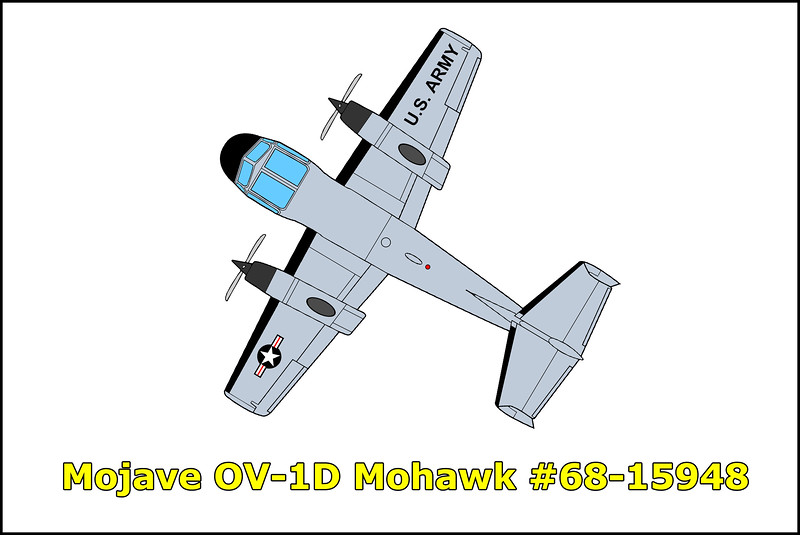 On 11/15/82 the Grumman OV-1D Mohawk #68-15948 was undergoing dynamic and static spin testing to determine what effect the SLAR boom had on the aircraft. While conducting static VMC testing at 6,400 feet MSL (4,000 feet AGL) the pilot called the VMC point at 78 KIAS and announced initiation of recovery. The aircraft rolled left slightly past 90 degrees and entered a nose low spin from which it did not recover, impacting the desert floor at a descent rate of 17,500 feet per minute. The civilian flight engineer John D. Ottomeyer attempted an unsuccessful ejection at 500 feet AGL, the test pilot CWO Hugh A. Lammons remained in the aircraft until impact. Both men were killed in the accident.