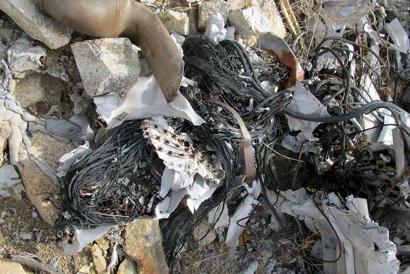 More burned wreckage.