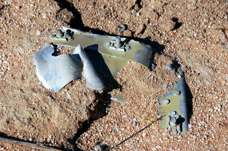 More wreckage. I was finding single pieces scattered over a large area.