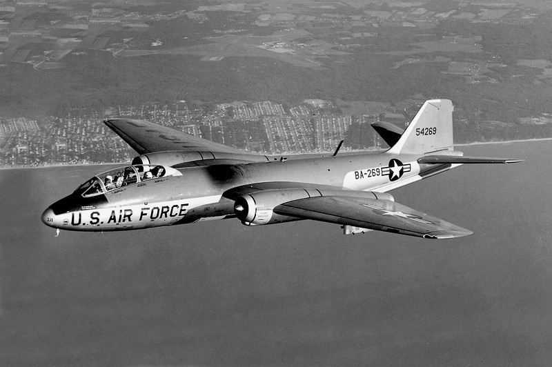 This Martin B-57E Canberra S/N 55-4269 is two serial numbers away from the aircraft at the crash site. (U.S. Air Force photo)