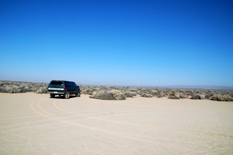 My truck parked at the edge of the dry lakebed. I started the hike to the crash from here. I was in Death Valley the day before doing a hike to Towne Peak and decided to check out this site on the way home.