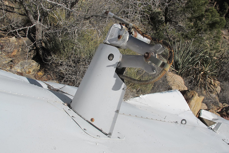 One of the main landing gears.