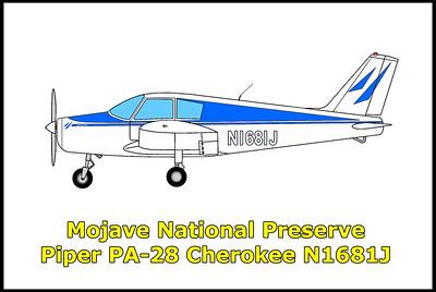 Mojave Nat'l Preserve Piper PA-28 N1681J  12/28/16
