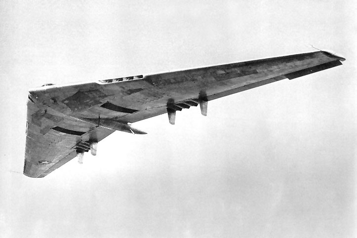 Bottom view of the flying wing.