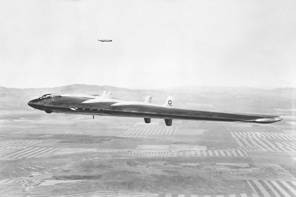I was able to find a lot of photos of #42-102367 which was the first YB-49, but none of #42-102368. (U.S. Air Force photo)