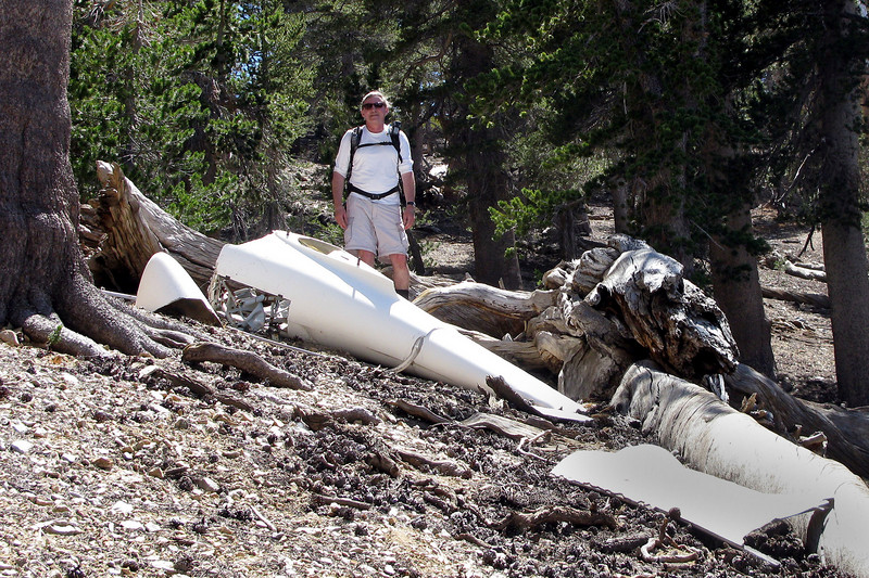 Further down the slope we found a large section of the fuselage.