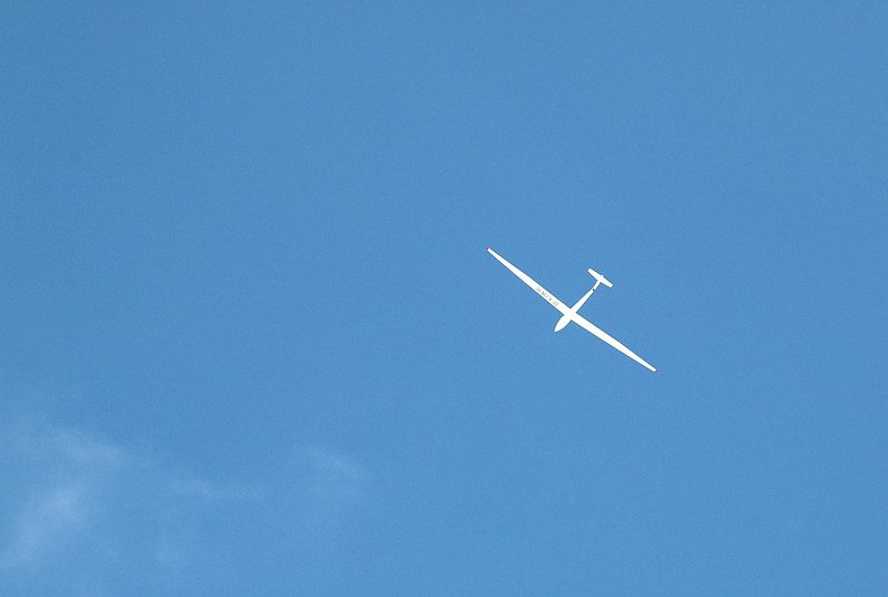 """Just as we starting hiking out, this sailplane flew over. Sooz looked up and said """"you don't want to come over here"""".<br /> <br /> <br /> THE END"""