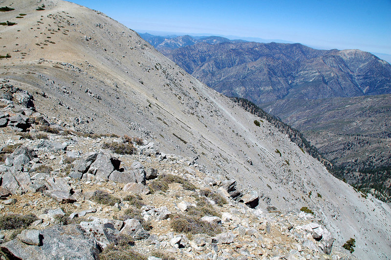 This is the slope just before reaching West Baldy. I can see some aluminum on it.