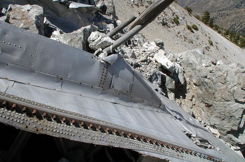 The landing gear well was full of rocks.