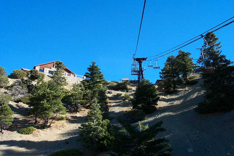 The hike to the C-46 crash site started off by taking the ski lift to the Baldy Notch.