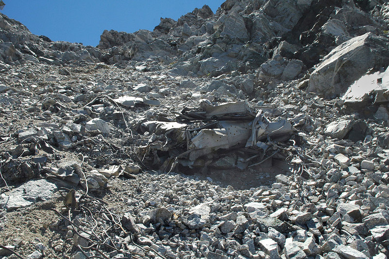 Some of the buried wreckage. Looks like more pieces from the same wing.