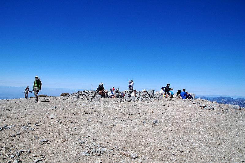 On the summit of Mt Baldy.