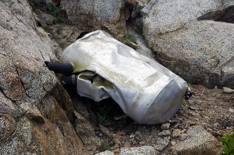 Another aluminum tank like the one I found up the canyon.