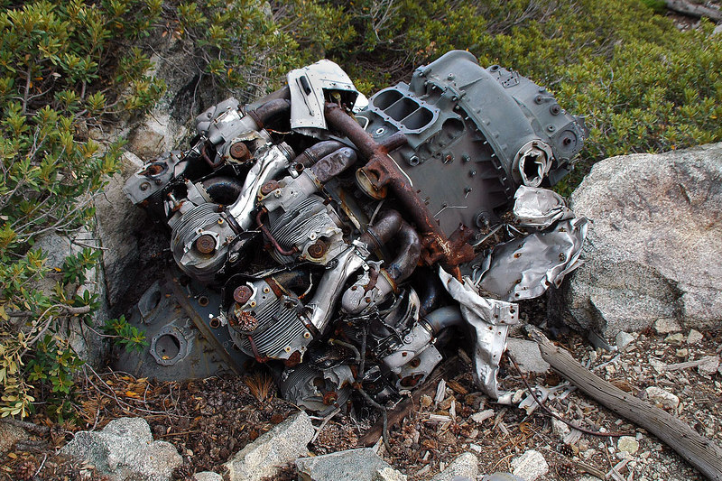 This is the most complete engine I ever found at a crash site.