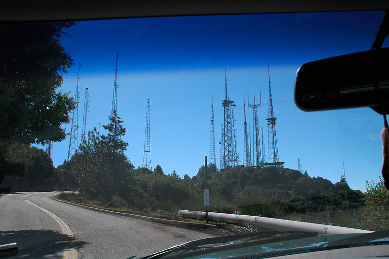 Approaching the antenna farm on Mount Wilson. My hike to Mount Harvard starts here at 5,700 feet.