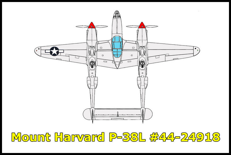 It took three tries, but I finally found the P-38L Lightning #44-24918 that crashed on the west slope of Mount Harvard on 9/20/44 in bad weather. The aircraft was on a test flight from the Lockheed plant at Burbank, California. Killed in the crash was Lockheed Aircraft test pilot Roy Cameron.