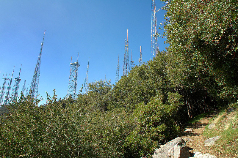 Almost back to Mount Wilson. Took the trail on the last mile to stay out of the sun.