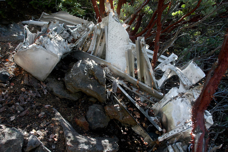 A short way down the slope I came upon more wreckage from the fuselage.