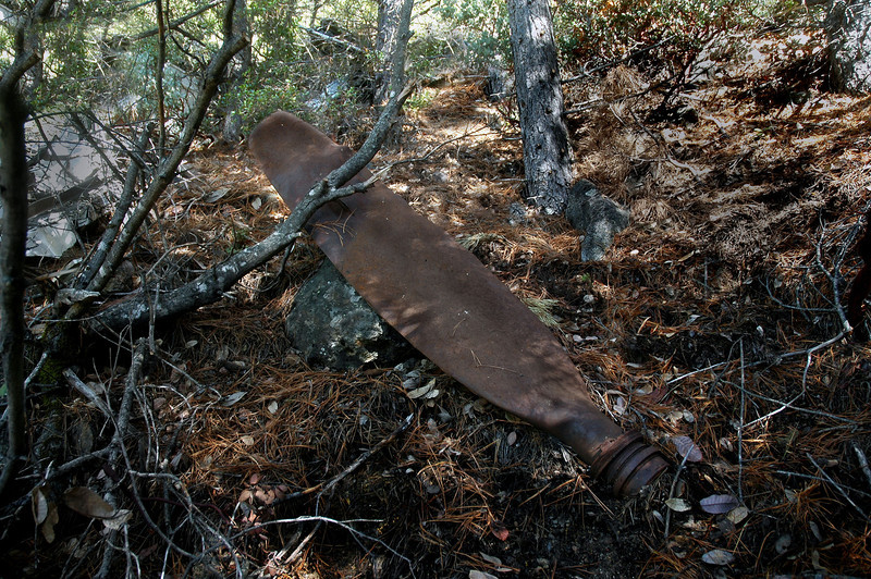One of  the propeller blades. The AD-6s were equipped with Aeroproducts four bladed propellers which were thirteen and a half feet in diameter.