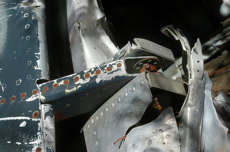 One of the hinges on the lower airbrake.