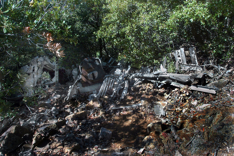 Nearby was a large amount of wreckage.