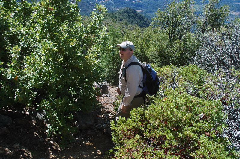 Craig leads us down the slope near the start of the hike.