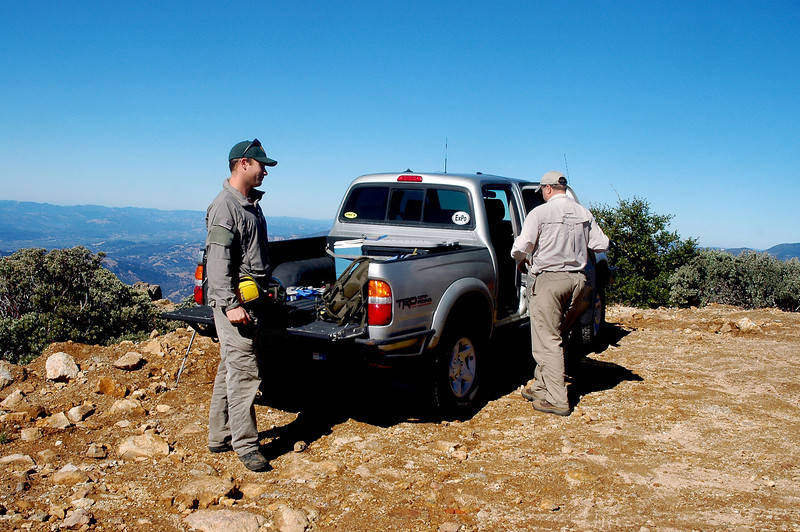 Mike and Craig at the starting point of our hike. Mike has been helping Craig with the survey.  This trip will be Mike's fifth visit to the site.