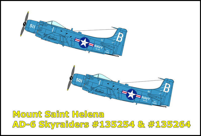 On 8/26/54, two AD-6 Skyraiders from the Attack Squadron 195 took off from Moffett Field Naval Air Station, California at 9:07am on the routine training flight. The lead plane BuNo 133254 was piloted by Lieutenant Commander Hubert L. Worrell followed by BuNo 135264 flown by Lieutenant (junior grade) Roger W. Tillson Jr. The purpose of the flight was long range low level navigation from Moffett Field seaward west of San Francisco, then to a point near Fallon, Nevada and return to Moffett. After taking off, the flight headed west for 35 miles then north for 32 miles. On the third leg of the flight they turn east, heading back towards land on course towards Fallon, Nevada. They encountered scattered clouds near Santa Rosa. As the flight continued at an estimated altitude between 1500 and 2000 feet, they entered an overcast three to five miles from the impact point. The two aircraft were in formation at an estimated 140 knots, in a climbing, slight right wing down attitude as they collided with the mountain. Both aircraft disintegrated on impact, killing the pilots instantly.