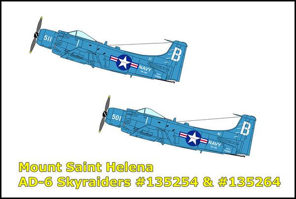 Mount Saint Helena AD-6 Skyraiders 10/7/11
