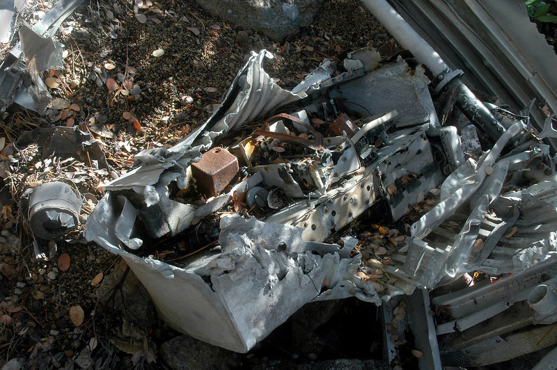 This large piece of electrical equipment was with the fuselage wreckage.