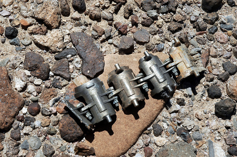 Links from the ammo conveyor for the 20mm Vulcan cannon. We also found other pieces from the conveyor system.