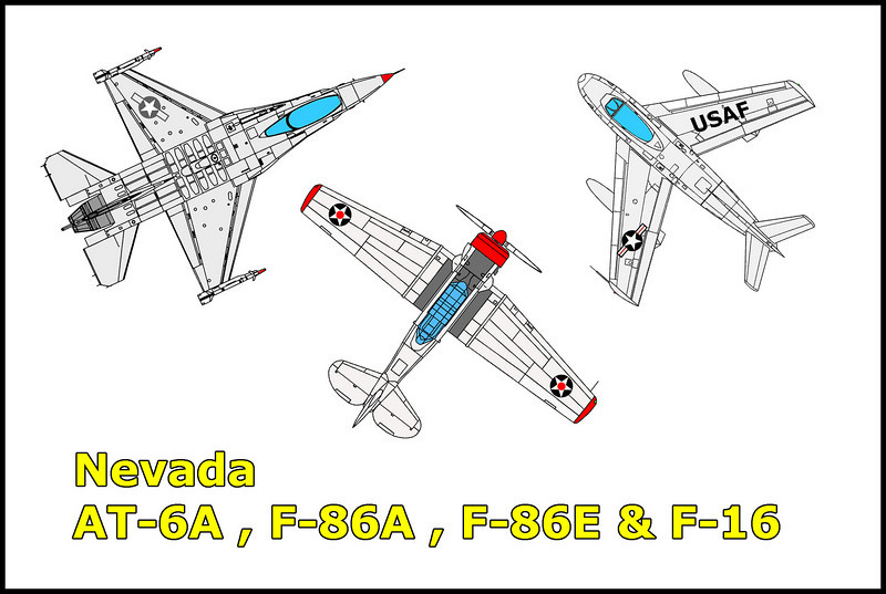 Last week I met up with Craig Fuller north of Las Vegas to join him on searches for a few crash sites. The plan was to search for an AT-6A and P-80 the first day and a F-86A and F-86E on day two. We were able to locate the AT-6A, both F-86s and a mystery site which I believe is a F-16. Dave Trojan and Rob Hill joined us on the first day.