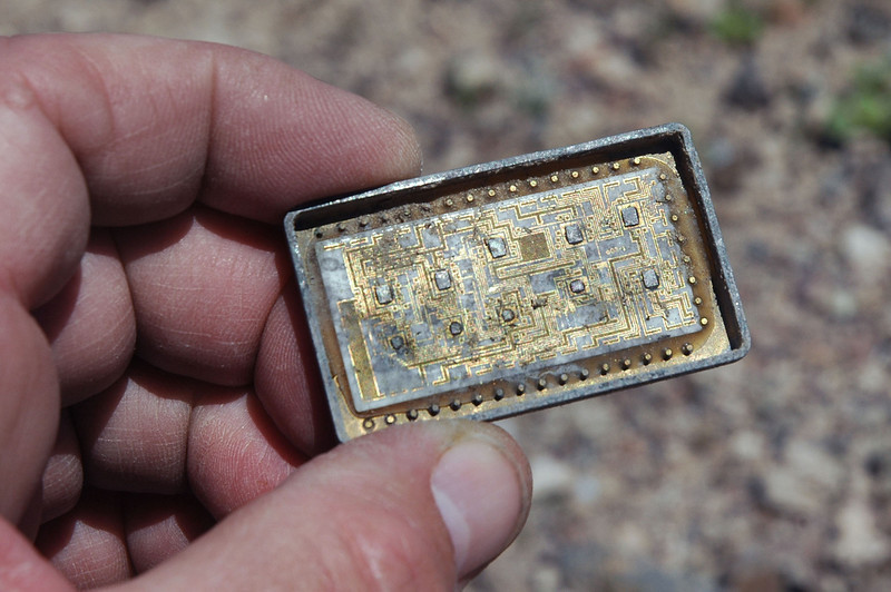 The remains of an IC.