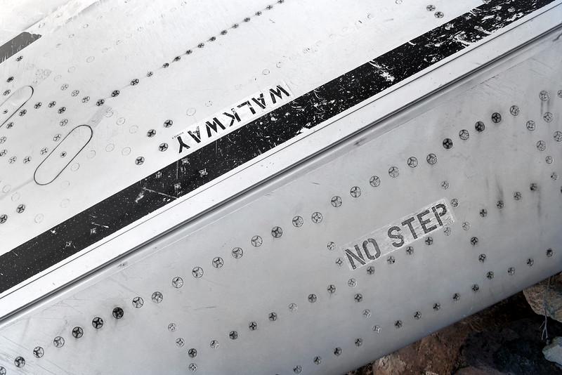 Close up of the leading edge flap hinge line.